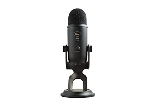 Blue Yeti USB Mic for Recording & Streaming on PC and Mac, 3 Condenser Capsules, 4 Pickup...