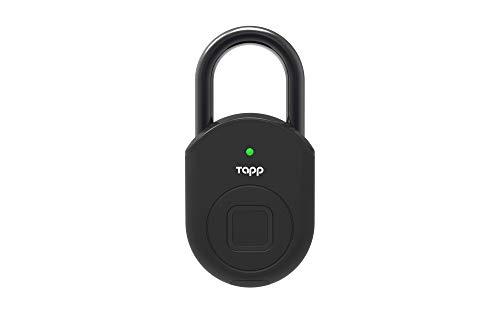 Tapplock lite Fingerprint Bluetooth Biometric Keyless Smart Padlock (Ash Black)