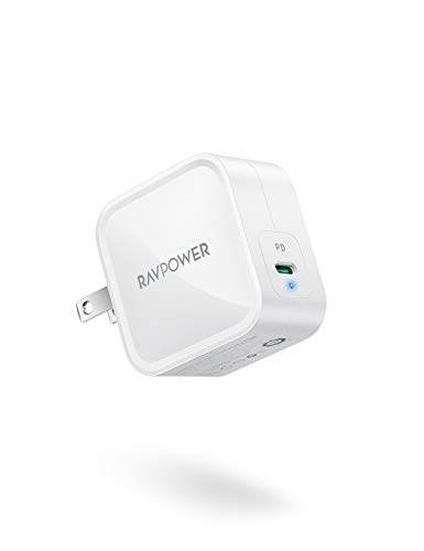 USB C Charger,RAVPower 61W PD Charger[GaN Tech] Fast Charging Type C Wall Charger Foldable...