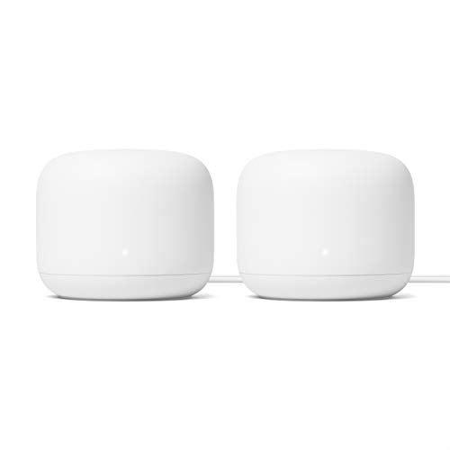 Google Nest WiFi Router 2 Pack (2nd Generation) – 4x4 AC2200 Mesh Wi-Fi Routers with...