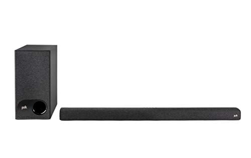 Polk Audio Signa S3 Ultra-Slim TV Sound Bar and Wireless Subwoofer with Built-in...