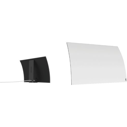 Mohu Curve 30 Indoor TV Antenna, 30-Mile Range, UHF/VHF Multi-directional, Paper-Thin...