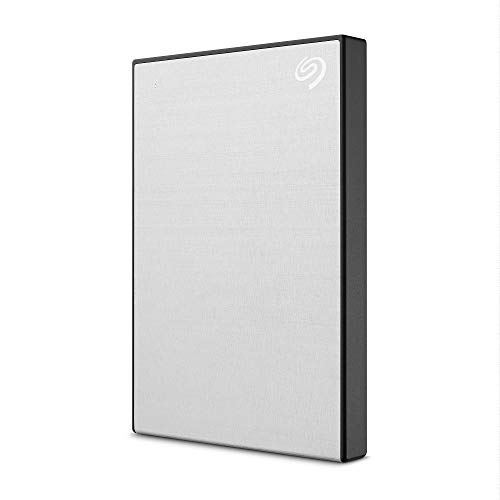 Seagate One Touch 2TB External Hard Drive HDD – Silver USB 3.0 for PC Laptop and Mac, 1...