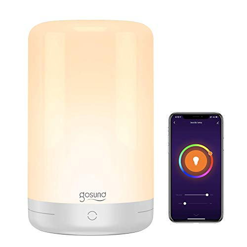 Smart Table Lamp, Gosund WiFi Touch Bedside Lamp Compatible with Alexa Google Home for...
