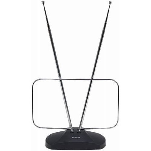 RCA ANT111E Indoor Digital TV Antenna, Non-Amplified, 40-Mile Range Black