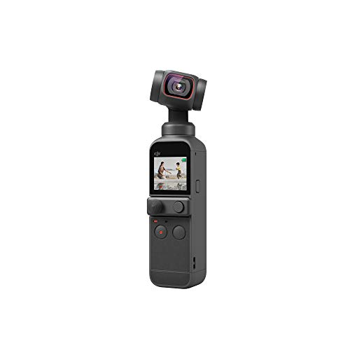 "DJI Pocket 2 - Handheld 3-Axis Gimbal Stabilizer with 4K Camera, 1/1.7"" CMOS, 64MP..."