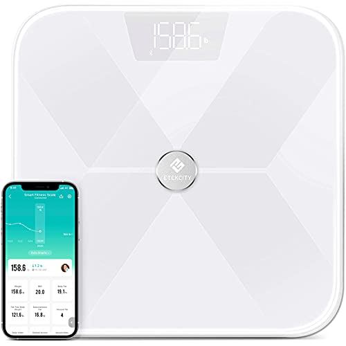 Etekcity Smart Digital Bathroom Weight Scale, Scales for Body Weight and Fat, Wellness...