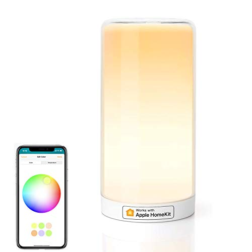 Smart Lamp, Meross Dimmable WiFi Table Lamp, Support HomeKit (iOS13+), Alexa, Google...