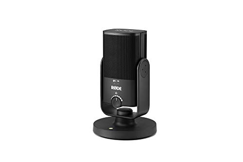 Rode NT-USB-Mini USB Microphone with Detachable Magnetic Stand, Built-in Pop Filter and...
