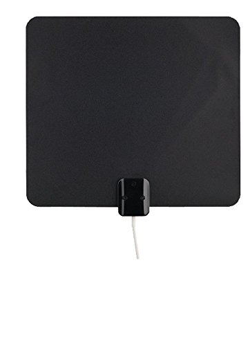RCA Ultra-Thin, Multi-Directional, Indoor Amplified HDTV Antenna with 60 Mile...