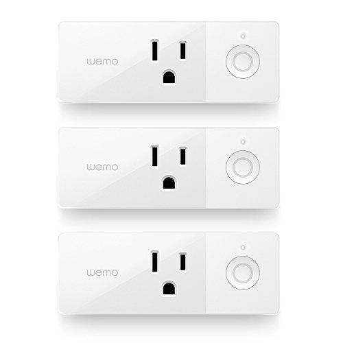 Wemo Mini Smart Plug 3-Pack, WiFi Enabled, Works with Amazon Alexa and the Google...