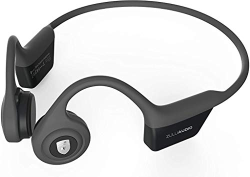 Zulu Exero Open-Ear Wireless Bone Conduction Headphones (Grey) Bluetooth for Running,...
