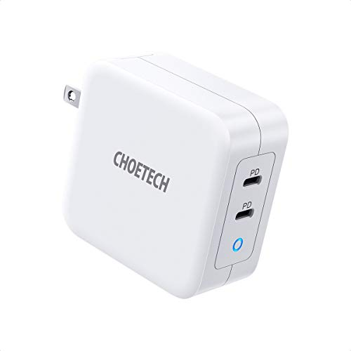 USB C Charger, CHOETECH 100W 2-Port Type C Wall Charger PD 3.0 GaN Tech Foldable PD...
