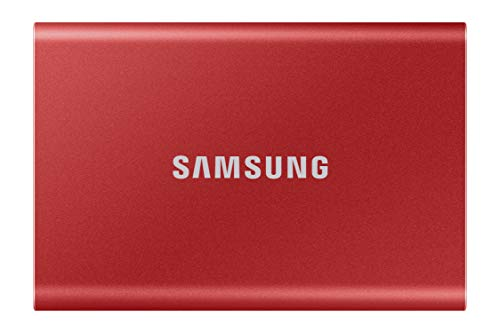 SAMSUNG T7 Portable SSD 500GB - Up to 1050MB/s - USB 3.2 External Solid State Drive, Red...