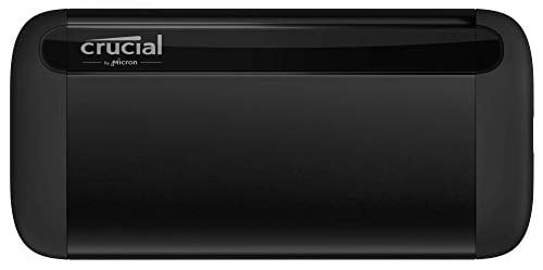 Crucial X8 500GB Portable SSD – Up to 1050MB/s – USB 3.2 – External Solid State...