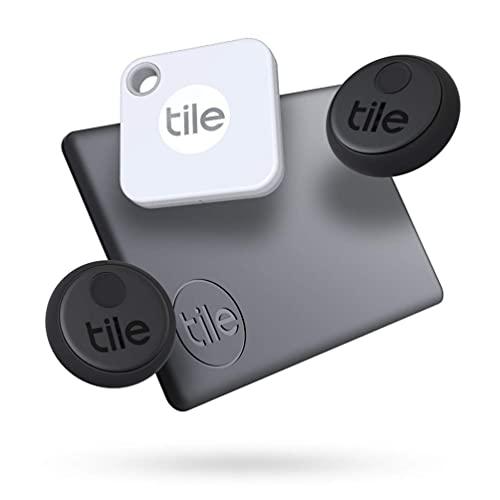 Tile Essentials (2020) 4-pack (1 Mate, 1 Slim, 2 Stickers) - Bluetooth Tracker & Item...
