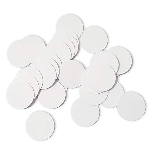 THONSEN 25pcs NTAG215 NFC Tags Round 30mm(1.18 inch) Blank White NTAG215 NFC Cards...