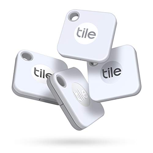 Tile Mate (2020) 4-pack -Bluetooth Tracker, Keys Finder and Item Locator for Keys, Bags...