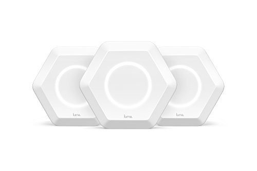 Luma Whole Home WiFi (3 Pack - White) - Replaces WiFi Extenders and Routers, Free Virus...