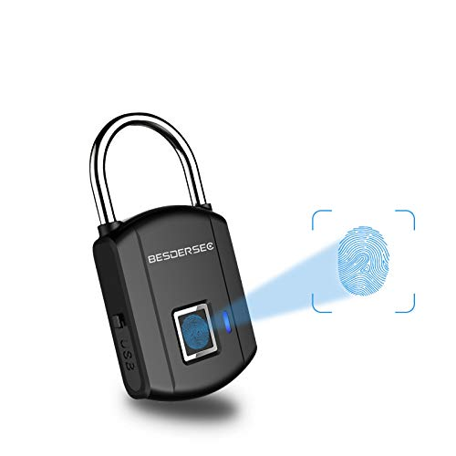Fingerprint Padlock, Outdoor Smart Biometric Thumbprint Keyless Lock, One Touch Unlock...