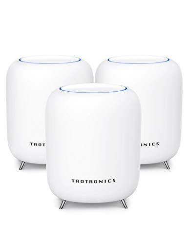 TaoTronics Mesh WiFi System, Tri-Band AC3000 3Gbps Speed 6,000 Sq. Ft Coverage Whole Home...