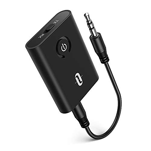 TaoTronics Bluetooth 5.0 Transmitter and Receiver, 2-in-1 Wireless 3.5mm Adapter (Low...