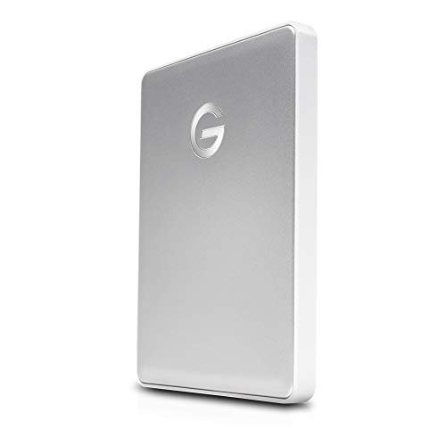 G-Technology 1TB G-DRIVE mobile USB-C (USB 3.1 Gen 1) Portable External Hard Drive, Silver...