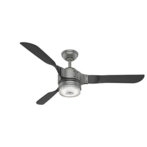 HUNTER 59381Apache Indoor Wi-Fi Ceiling Fan with LED Light and Remote Control, 54', Matte...