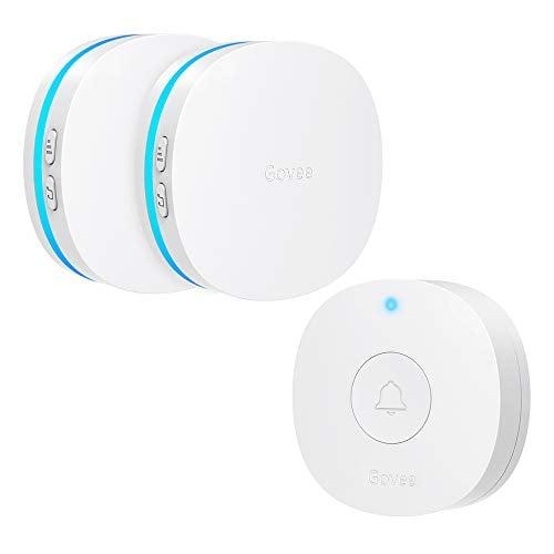 Govee Upgraded Wireless Doorbell, IP66 Waterproof Door Bell Chime Operating at 1000 Feet...