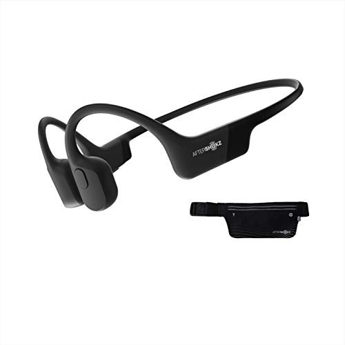 AfterShokz Aeropex Open-Ear Wireless Bone Conduction Headphones with Sport Belt, Cosmic...