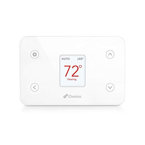 iDevices IDEV0005AND5 FBA_2843481 Wi-Fi Smart Thermostat, Works with Alexa, White (Package...