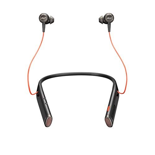 Plantronics - Voyager 6200 UC (Poly) - Bluetooth Dual-Ear (Stereo) Earbuds Neckband...