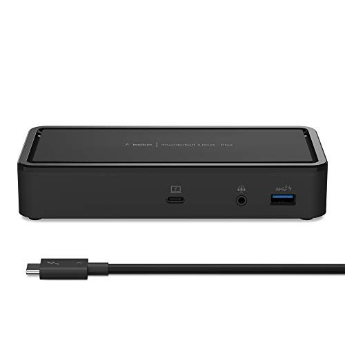 Belkin Thunderbolt 3 Dock Plus w/ 2.6ft Thunderbolt 3 Cable (Thunderbolt Dock for macOS...