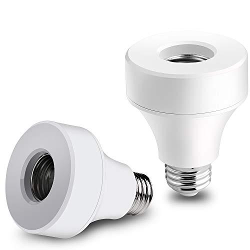 Innens Wifi Smart Bulb Socket Compatible with E26 E27, WiFi Light Bulb Base Adapter...