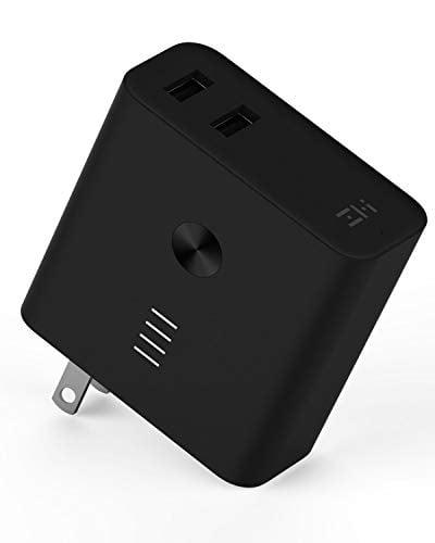 ZMI Plugornot Zero Portable Charger 6700mAh with Dual USB Wall Charger, Foldable Plug and...