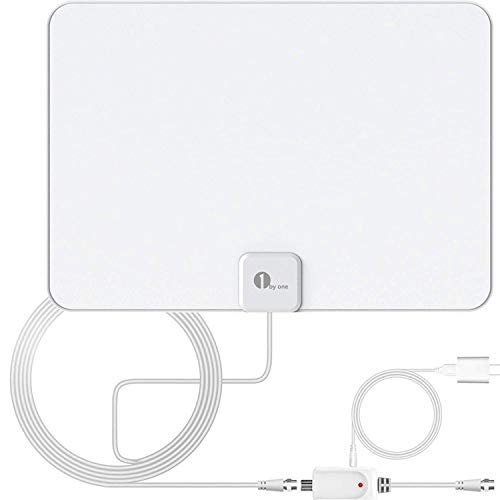 Indoor TV Antenna, Amplified Digital HDTV Antenna - HD Antenna with Amplifier Signal...