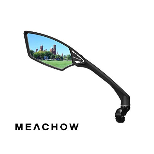 MEACHOW New Scratch Resistant Glass Lens,Handlebar Bike Mirror, Rotatable Safe Rearview...