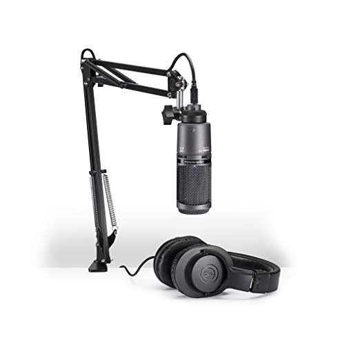 Audio-Technica AT2020USB+PK Vocal Microphone Pack for Streaming/Podcasting, Includes USB...