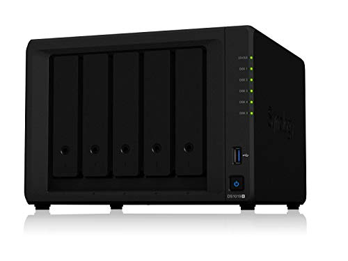 Synology 5 bay NAS DiskStation DS1019+ (Diskless), 5-bay; 8GB DDR3L