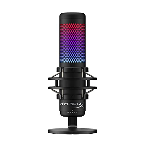 HyperX QuadCast S – RGB USB Condenser Microphone for PC, PS4, PS5 and Mac,...