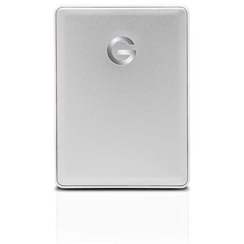 G-Technology 1TB G-DRIVE Mobile USB-C (USB 3.1 Gen 1) Portable External Hard Drive, Silver...