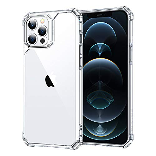 ESR Air Armor Tough Case Compatible with iPhone 12 Pro Max Case, Shock Absorbing and...