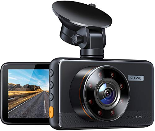 APEMAN Dash Cam C660, Superior Night Vision with 8 IR Lights, 1080P Car Driving Recorder,...