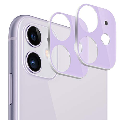 (2 Pack) iPhone 11 Camera Lens Protector, BASE MALL Dustproof 9H Tempered Glass Camera...