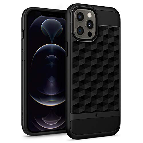 Caseology Parallax Compatible with iPhone 12 Pro Max Case (2020) - Matte Black