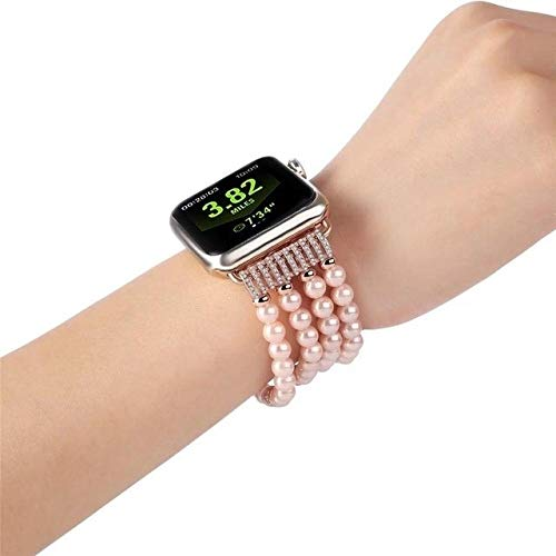 QAZWSX Compatible with Luxury Ladies Watch Apple Watch strap1 2 3 Wrist Band Hand Made by...