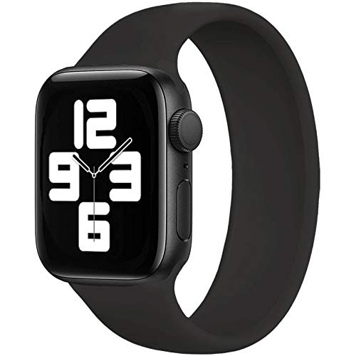 UPOLS Solo Loop Band Compatible with Apple Watch SE Series 6 Bands 40mm 44mm, Stretchable...