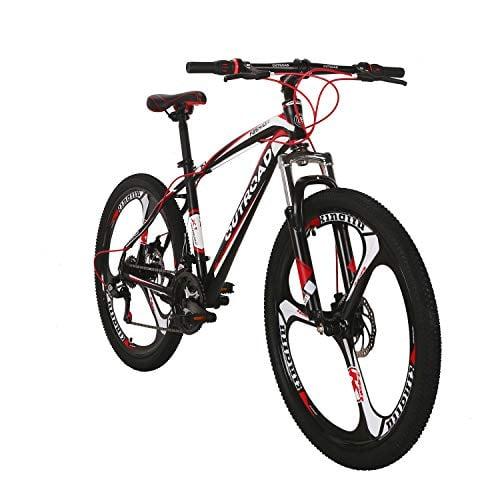 Outroad Mountain Bike 26-inch Wheel 21 Speed 3 Spoke Double Disc Brake Bicycle Suspension...