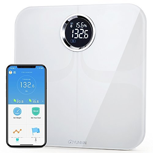 YUNMAI Premium Smart Scale - Body Fat Scale with Fitness APP & Body Composition Monitor...