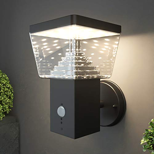 NBHANYUAN Lighting LED Outdoor Wall Light Fixtures with Motion Sensor Exterior Wall Sconce...